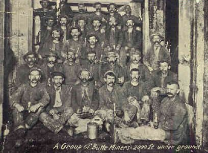 Copper miners in Butte, Montana.
